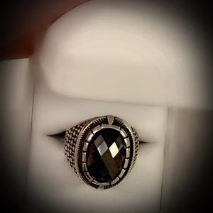 Other - Size 10.5 Solid 925 Ring Black Gold Hematite Fine